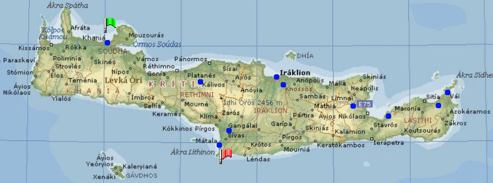 Voyages Grèce carte Crête